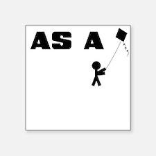 AS A KITE STICK FIGURE Sticker