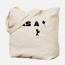 AS A KITE STICK FIGURE Tote Bag