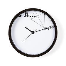 AS A KITE Wall Clock