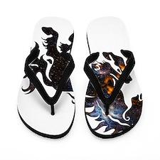 Cosmic Horse Flip Flops