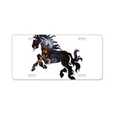 Cosmic Horse Aluminum License Plate