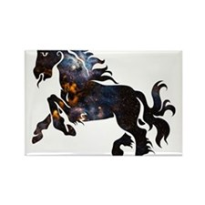 Cosmic Horse Rectangle Magnet