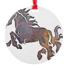 Textured Horse Ornament