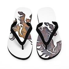 Textured Horse Flip Flops