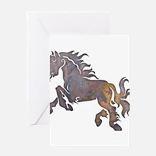 Textured Horse Greeting Card
