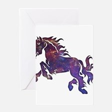 Space Horse Greeting Card