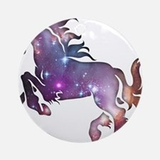 Galaxy Horse Ornament (Round)