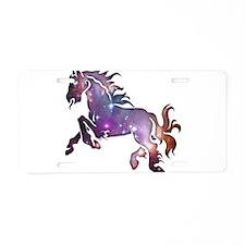 Galaxy Horse Aluminum License Plate