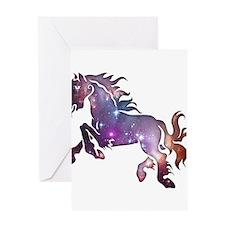 Galaxy Horse Greeting Card