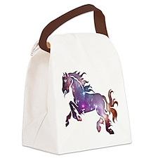 Galaxy Horse Canvas Lunch Bag