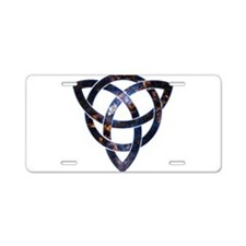 Cosmic Knot Aluminum License Plate