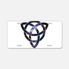 Cosmic Knot Aluminum License Plate