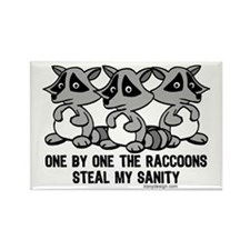 One By One The Raccoons Rectangle Magnet (10 pack)