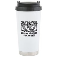 One By One The Raccoons Travel Mug
