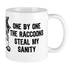 One By One The Raccoons Small Mug