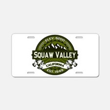 Squaw Valley Olive Aluminum License Plate