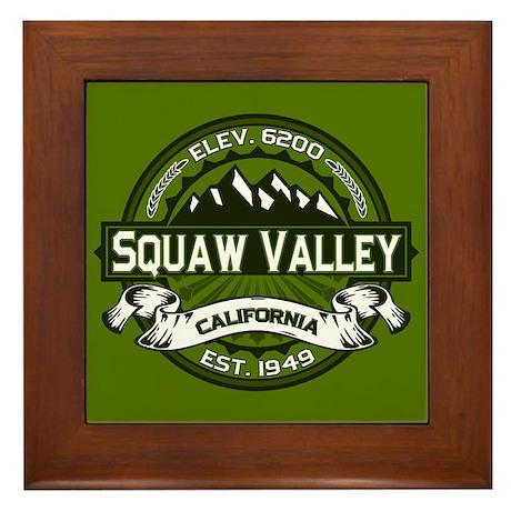 Squaw Valley Olive Framed Tile