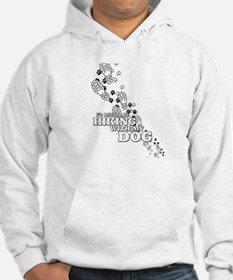 Id Rather Be Hiking With My Dog Tracks Hoodie