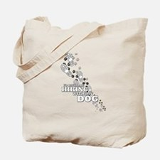 Id Rather Be Hiking With My Dog Tracks Tote Bag