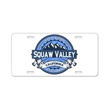 Squaw Valley Blue Aluminum License Plate