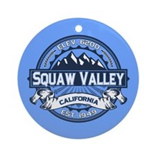 Squaw Valley Blue Ornament (Round)