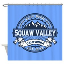 Squaw Valley Blue Shower Curtain