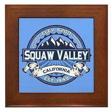 Squaw Valley Blue Framed Tile