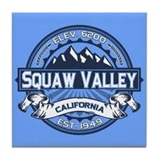 Squaw Valley Blue Tile Coaster