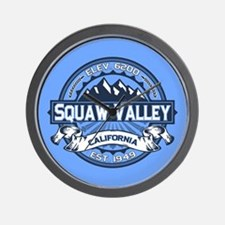 Squaw Valley Blue Wall Clock