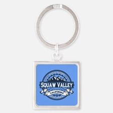 Squaw Valley Blue Square Keychain