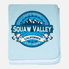 Squaw Valley Blue baby blanket