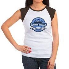 Squaw Valley Blue Women's Cap Sleeve T-Shirt