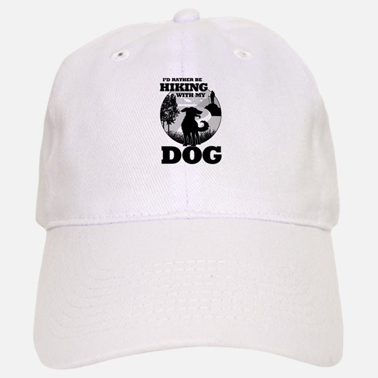 I'd Rather Be Hiking With My Dog Scene Baseball Ca