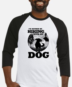 I'd Rather Be Hiking With My Dog Scene Baseball Je