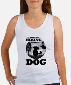I'd Rather Be Hiking With My Dog Scene Tank Top