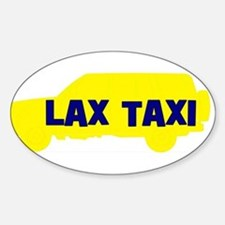 Lax Taxi Yellow Oval Decal