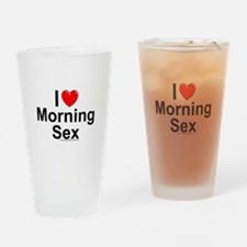 Morning Sex Drinking Glass