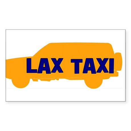 Lax Taxi Orange Rectangle Sticker