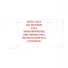 news reporter Aluminum License Plate