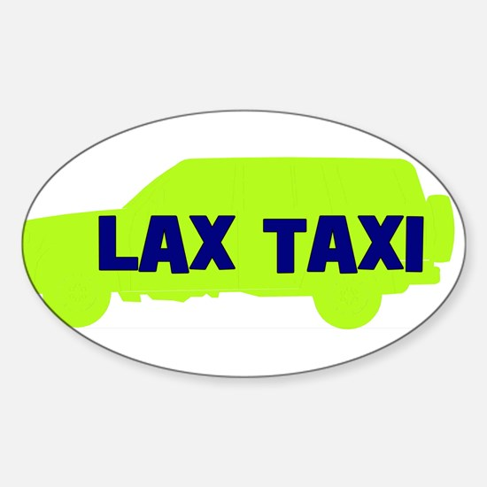 Lax Taxi Green Oval Decal
