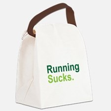 Running Sucks Green Canvas Lunch Bag