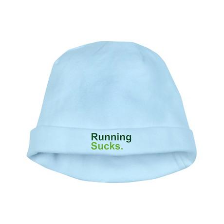 Running Sucks Green baby hat