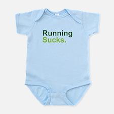 Running Sucks Green Body Suit