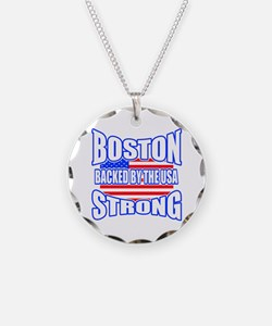 Boston Strong backed by the USA Necklace