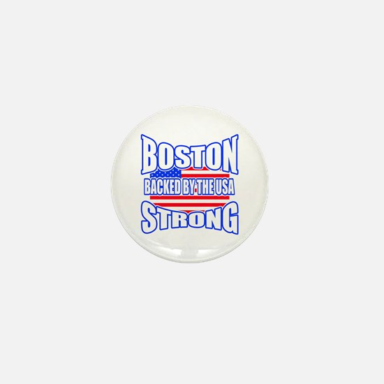 Boston Strong backed by the USA Mini Button (10 pa