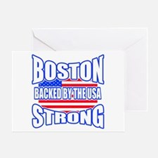 Boston Strong backed by the USA Greeting Card
