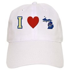 I Love Michigan Baseball Cap