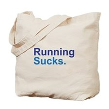 Running Sucks Blue Tote Bag