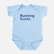 Running Sucks Blue Body Suit