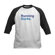 Running Sucks Blue Baseball Jersey
